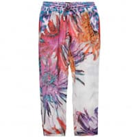 Roberto Cavalli Girls Exotic Flowers Silk Trousers