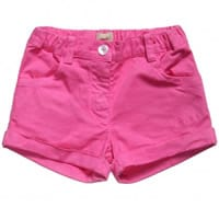 amore Girls Pink Cotton Shorts