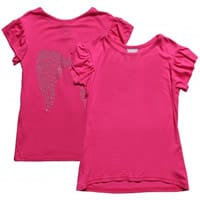 angels face Girls Pink Jersey Diamante T-Shirt