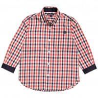 aquascutum junior Boys Red and Blue Cotton Checked Shirt