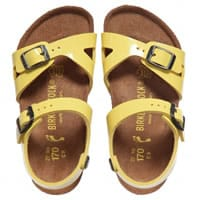 birkenstock Girls Yellow Patent Sandals (Rio)