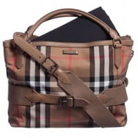 burberry Beige Nova Check Canvas Baby Bag (38cm)