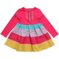 catimini Pink Cotton Dress with Detachable Sleeves