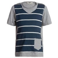 Hitch-hiker Boys Grey Layered-Look T-Shirt