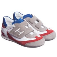 Hogan Red and Grey Leather Trainers