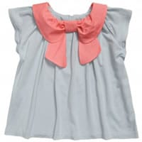 Hucklebones London Girls Blue and Pink Viscose Top