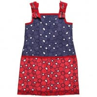 I Pinko Pallino Navy Blue and Red Broderie Anglaise Dress
