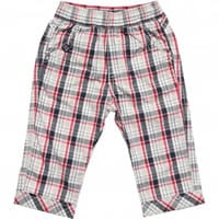IDO Baby Boys Blue Check Cotton Trousers