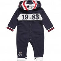 IDO Boys Blue Cotton Romper with Hood