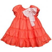 Il Gufo Girls Orange Cotton Dress