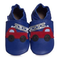 Inch blue Baby Boys Blue Leather Pre-Walker Shoes