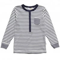 Joha Boys Blue Striped Cotton Top