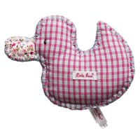 Kathe Kruse Gingham Duck Soft Toy Baby Rattle (17cm)