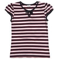 Konigsmuhle Girls Navy Blue Striped Cotton T-Shirt