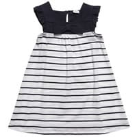 Konigsmuhle Navy Blue Striped Cotton Knee Length Dress