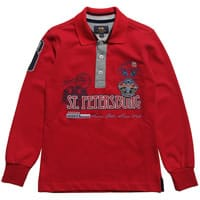 La martina Boys Red St Petersburg Cotton Polo Top