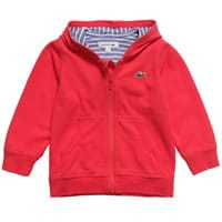 Lacoste Boys Red Cotton Hooded Top
