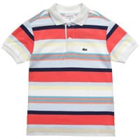 Lacoste Boys Striped Cotton Polo T-Shirt