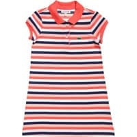 Lacoste Striped Pique Cotton Polo Dress