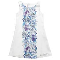 Laura Biagiotti Dolls White Floral Cotton Knee Length Dress