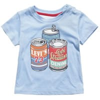 Levi's Boys Blue Cotton Jersey T-Shirt