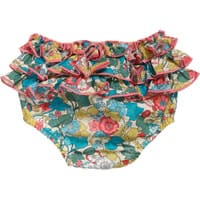 Liberty London Cotton Ruffled Bloomers with Boxford Print