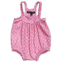Lili Gaufrette Baby Girls Pink Swimsuit