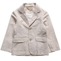Little Linens Boys Beige Stripe Blazer