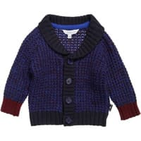 Little Marc Jacobs Baby Boys Blue Cotton Knitted Cardigan