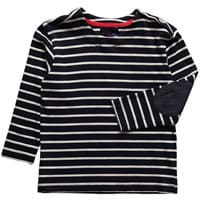 Little linens Boys Cotton Navy Blue Striped Top