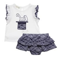Liu Jo Baby Girls Cotton Jersey Top and Skirt Set