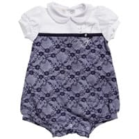 Liu-jo Baby Girls Blue Cotton Jersey Shortie