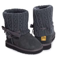 Love From Australia Girls Grey Sheepskin Leather Boots