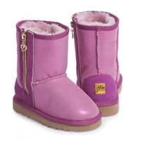 Love From Australia Girls Pink Sheepskin Leather Boots