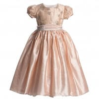 Nicki Macfarlane Peach Pink Silk 'Lily' Dress with Sequins