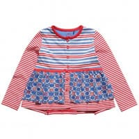 Oililly Girls Striped Cotton Jersey 'Tjoek' Cardigan