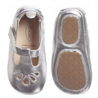 Old soles Baby Girls Silver First-Walker Shoes
