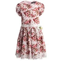 Paessagino Pink Floral Cotton Dress