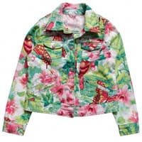 Pampolina Girls Floral Cotton Jacket