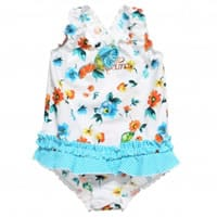 Pampolina Girls Fruit and Flower Print Swimsuit