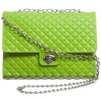 Parrot Girls Green Quilted Handbag (22cm)