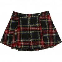 Parrot Tartan Boucle Tweed Skirt