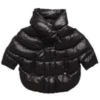 Patrizia Pepe Girls Black Down Padded Cape