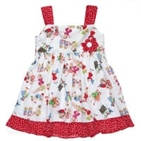 Powell craft Vintage Inspired Sleeveless Cotton Dress