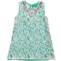 illudia Green Lace Dress with Necklace