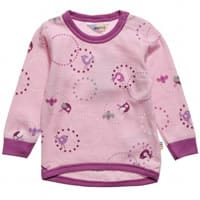 joha Girls Pink Bird Print Wool Top