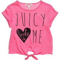 juicy couture Girls Bright Pink Cotton T-Shirt