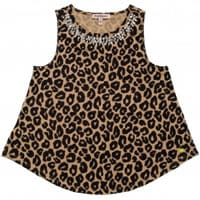 juicy couture Girls Brown Cheetah Top