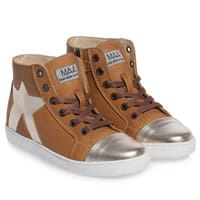 MAA Brown Leather High-Top Trainers