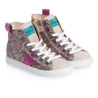 MAA Girls Glitter High-Top Trainers